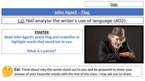 John Agard Flag