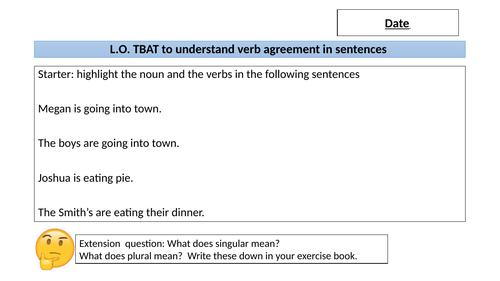 Grammar- Subject- Verb agreement