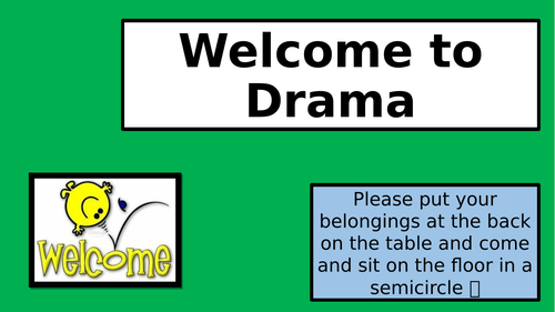 Year 5/6 Taster Session or Introduction to Drama.