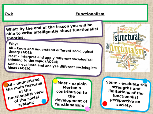 A level Sociology functionalism
