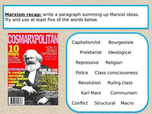 A level Marxism