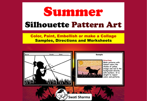 Summer Silhouette Pattern/Pop Art Project