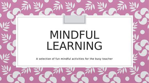 Mindful activities - SEMH