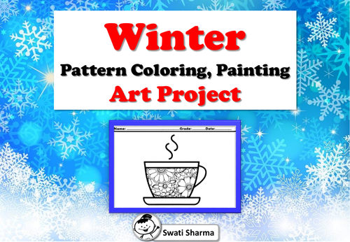 Winter Pattern Coloring, Painting Art Project