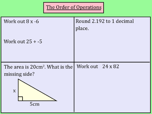 Order of Operations (BIDMAS) Mastery