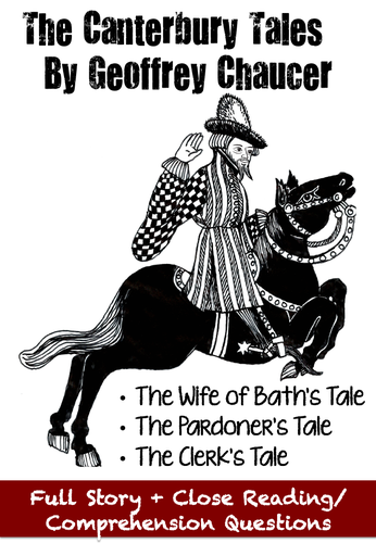 The Canterbury Tales - Close Reading Comprehension Passages + Questions + GOOGLE DRIVE LINKS