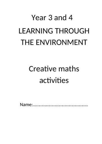 year 3/4 outdoor maths booklet complete with activities