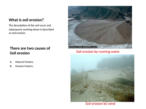 Soil Pollution and Conservation.
