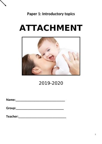 AQA Attachment booklet