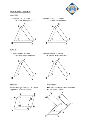 Pyth, Trig and Further Trig including 3D questions and answers