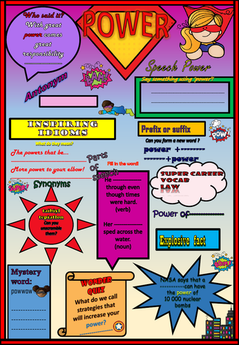 Fab Vocab and Grammar Worksheet