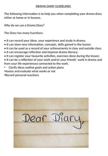 Drama Diary Prompts