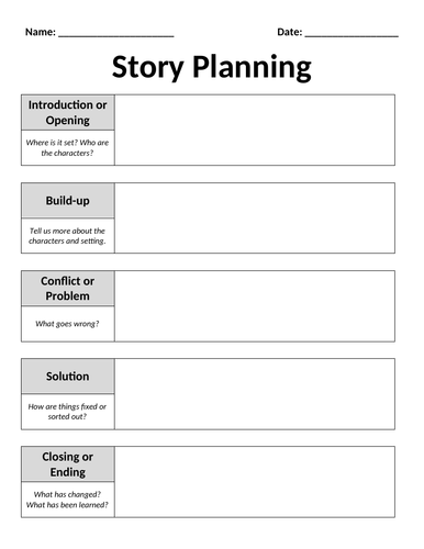 Story Planning Template