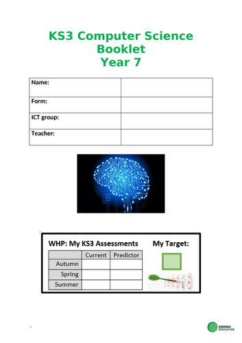 KS3  Computer Science progress & assessment log