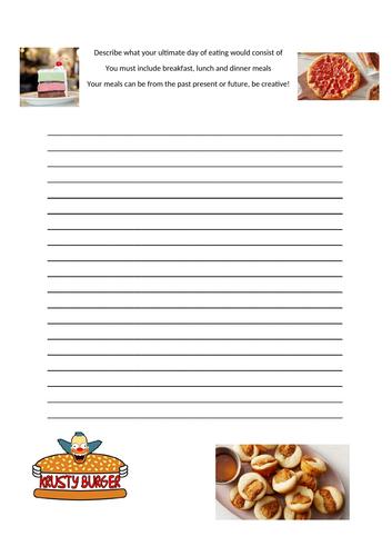 Literacy food technology activity