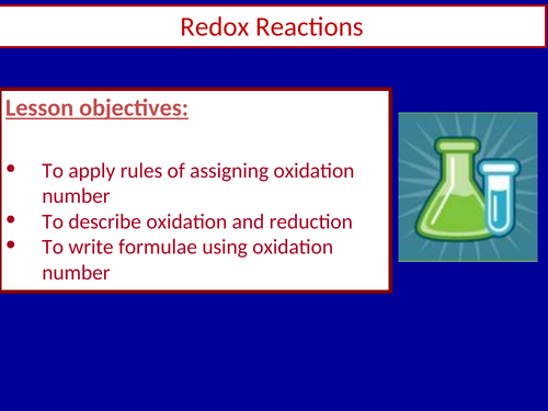 Year 12 Chemistry - Module 2 - Foundations in Chemistry - Redox