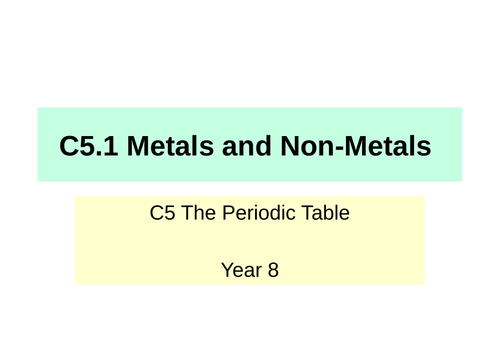 Activate KS3 Science - C5 The Periodic Table