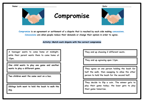 Compromise & Concessions