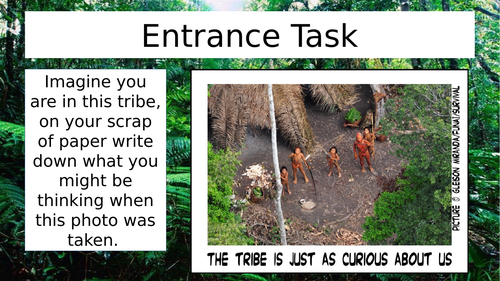 Lesson 6 - Tribes in the Tropical Rainforest