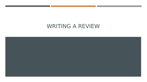 Functional Skills: Writing a Review