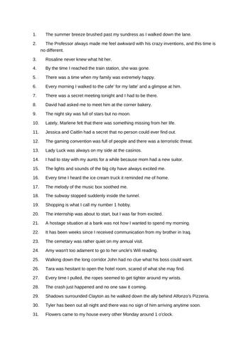 Creative Writing - Year 7 (age 11-13)