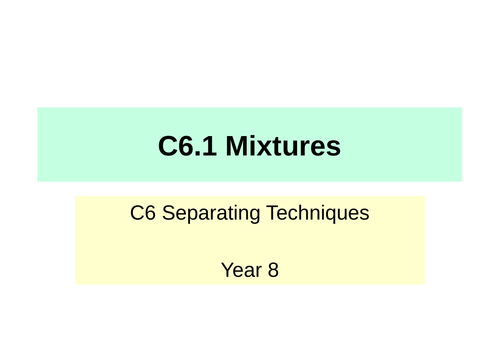 Activate KS3 Science - C6 Separation Techniques