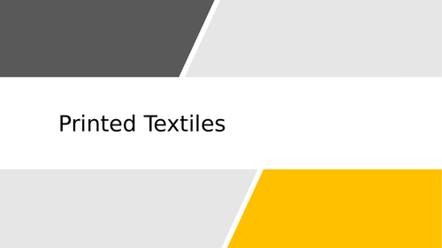 Printed Textiles PPT Guide