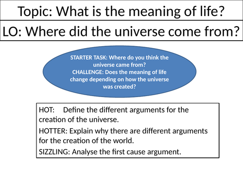 Where did the universe come from? - KS3 Philosophy Lesson