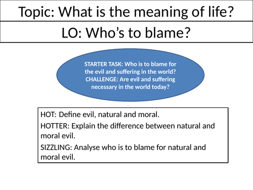 Who's to blame? - KS3 Philosophy Lesson