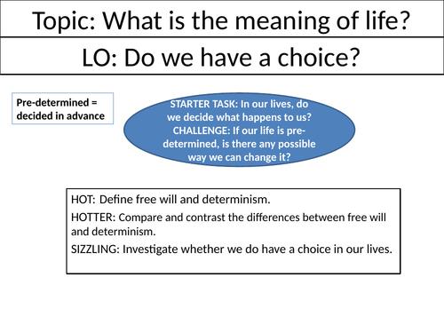 Do we have a choice? - KS3 Philosophy Lesson