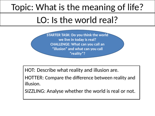 Is the world real? - KS3 Philosophy Lesson