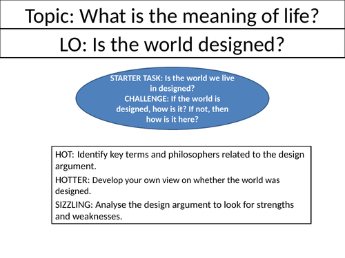Is the world designed?