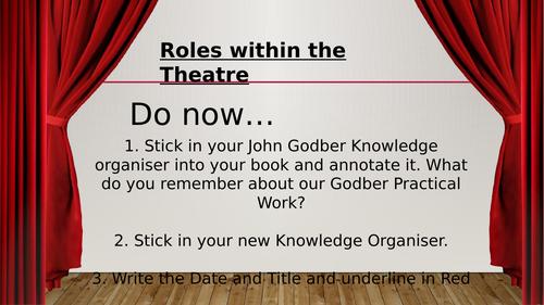 Drama / Theatre Job Roles Match up