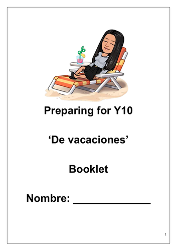 Preview booklet - preparing for Y10 Spanish