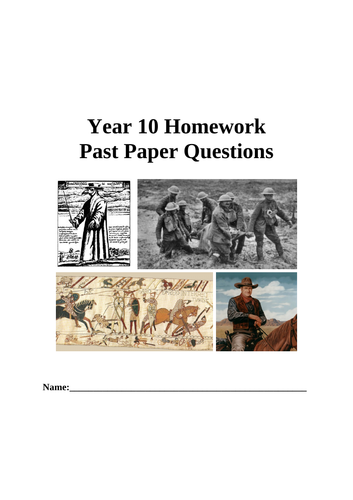 Edexcel GCSE History Example Questions Booklets