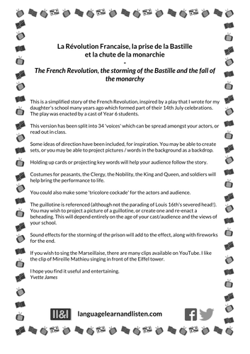 The French Revolution, the storming of the Bastille and the fall of the monarchy