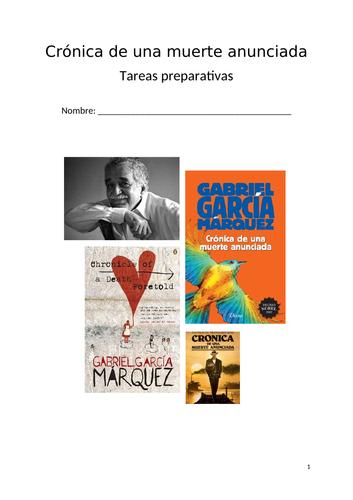 Introductory booklet to the novella Crónica de una Muerte Anunciada by García Márquez