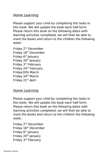 Homework for year 2