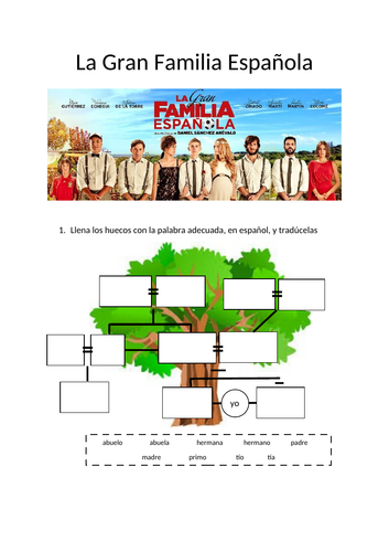 Booklet designed around the film 'La Gran Familia Española'