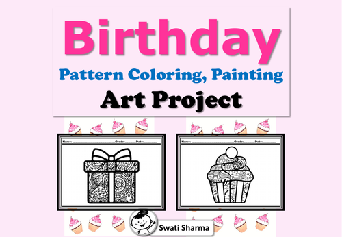 Birthday, Pattern Coloring, Painting, Art Project