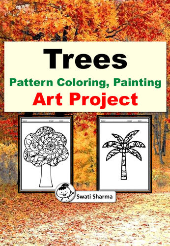 Fall, Trees, Pattern Coloring, Painting, Art Project