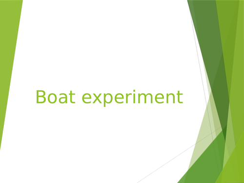 Boat experiment Year 5