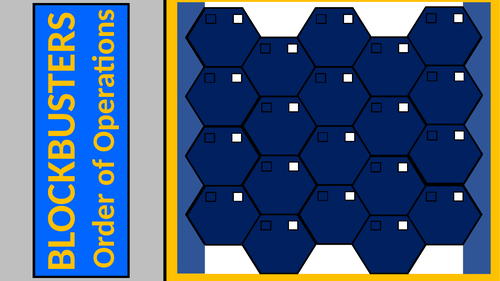Order of Operations Blockbusters Game