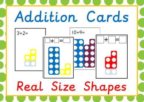Numicon Addition Cards