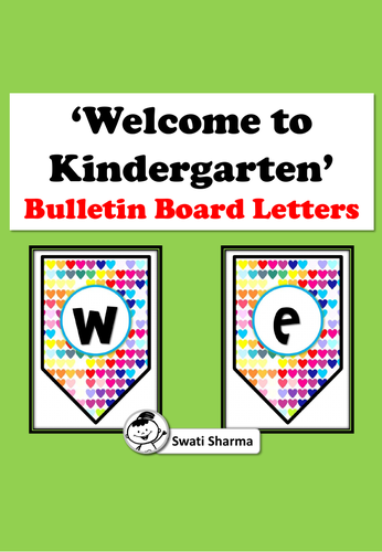 Welcome to Kindergarten, Bulletin Board Letters/Banner