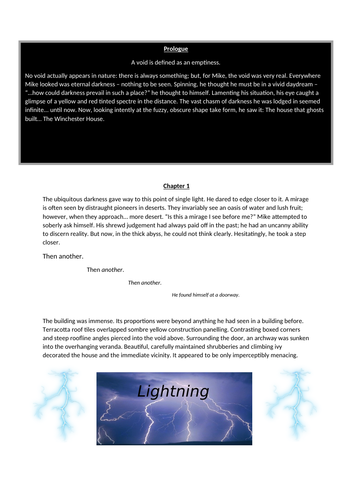 Short horror story to read with lesson planning