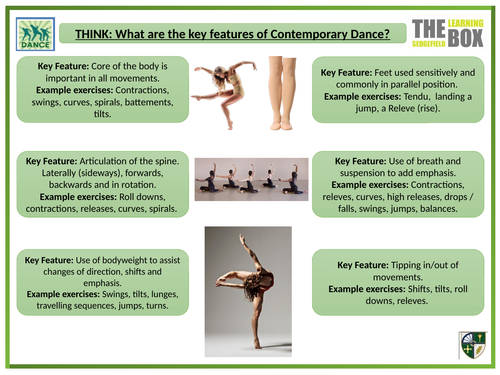 key features of contemporary dance