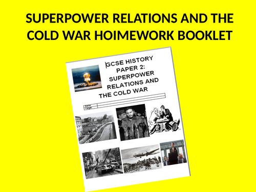 Superpower Relations and the Cold War Practice Exam Questions Homework Book
