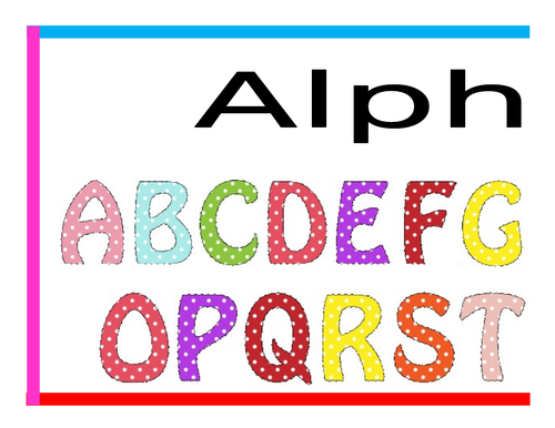 Colourful Alphabet & Number Banner