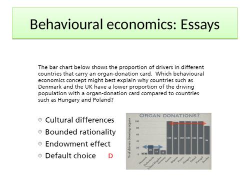 AQA A-level Economics Behavioural economics paper 1 Specimen 2014 essays